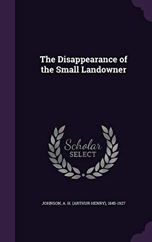 9781354286791: The Disappearance of the Small Landowner