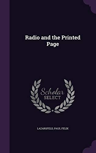 9781354338636: Radio and the Printed Page