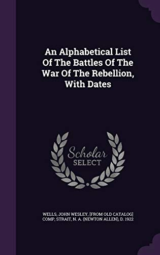 9781354470701: An Alphabetical List of the Battles of the War of the Rebellion, with Dates
