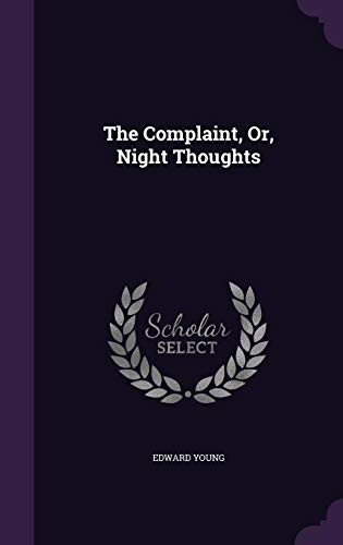 9781354793169: The Complaint, Or, Night Thoughts