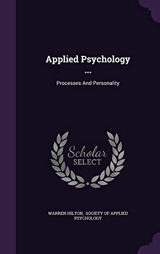 9781354865293: Applied Psychology ...: Processes and Personality
