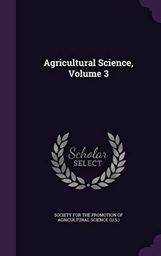 9781354880869: Agricultural Science, Volume 3