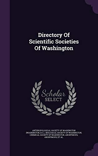 9781354889138: Directory of Scientific Societies of Washington