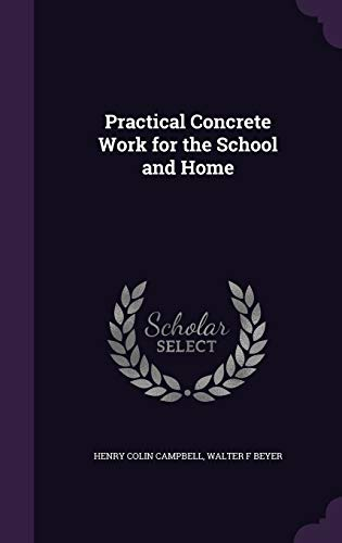 9781355026334: Practical Concrete Work for the School and Home