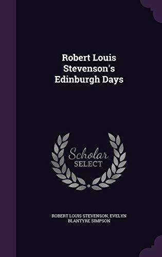 9781355204350: Robert Louis Stevenson's Edinburgh Days