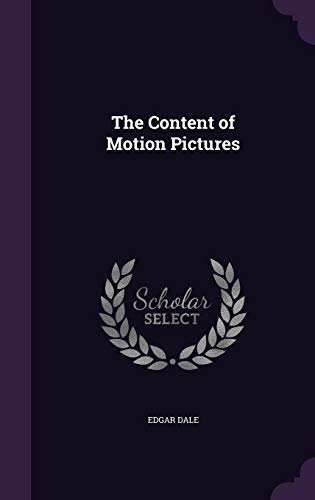 9781355220732: The Content of Motion Pictures
