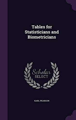 9781355240273: Tables for Statisticians and Biometricians
