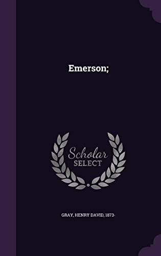 9781355611806: Emerson;