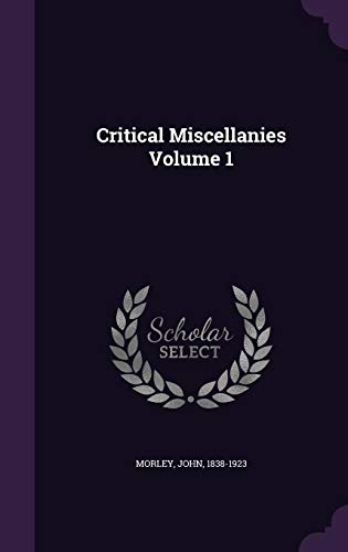9781355615002: Critical Miscellanies Volume 1