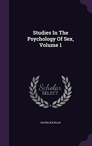 9781355638193: Studies in the Psychology of Sex, Volume 1