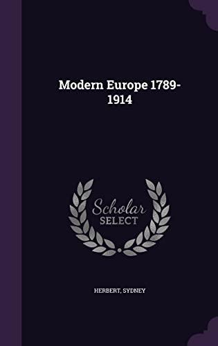 9781355721161: Modern Europe 1789-1914