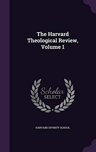 9781355755258: The Harvard Theological Review, Volume 1