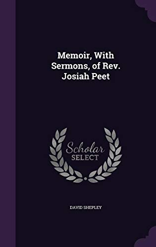 9781355762119: Memoir, with Sermons, of REV. Josiah Peet