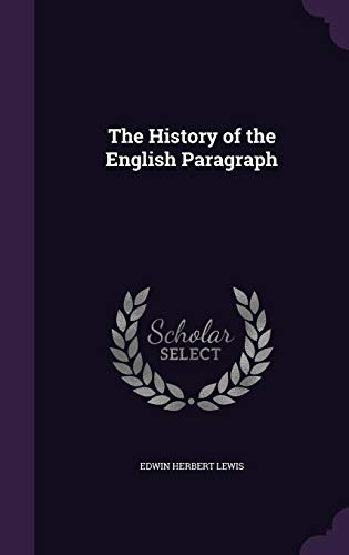 9781355839415: The History of the English Paragraph
