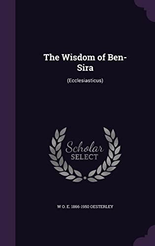 9781355925668: The Wisdom of Ben-Sira: (Ecclesiasticus)