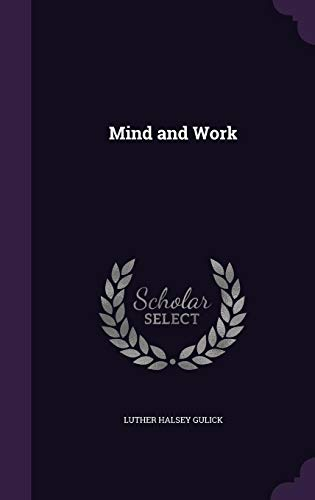 9781356088768: Mind and Work