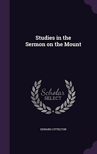 9781356183661: Studies in the Sermon on the Mount