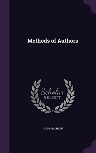 9781356311262: Methods of Authors