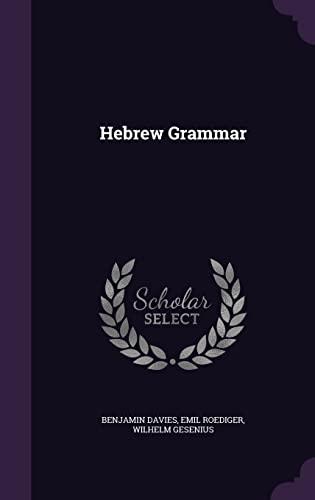 9781356385386: Hebrew Grammar