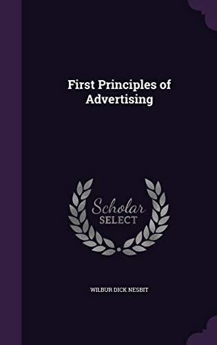 9781356770403: First Principles of Advertising