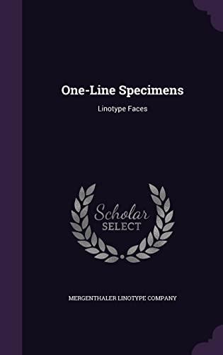 One-Line Specimens: Linotype Faces (Hardback)