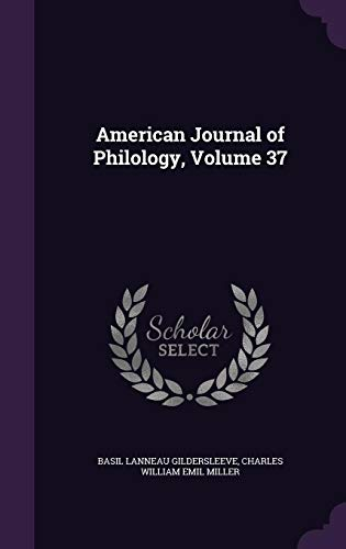 9781357343682: American Journal of Philology, Volume 37