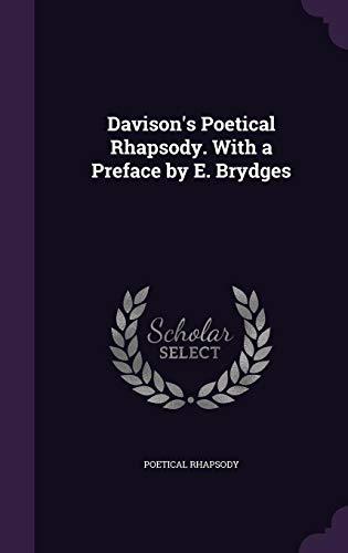 9781358054792: Davison's Poetical Rhapsody. with a Preface by E. Brydges
