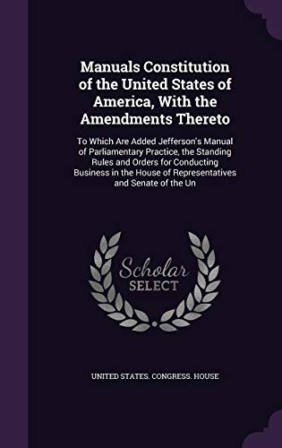 Manuals Constitution of the United States of