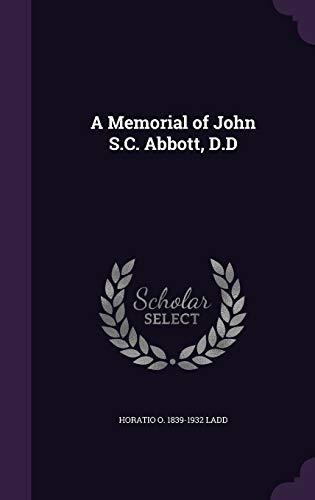 9781359531445: A Memorial of John S.C. Abbott, D.D