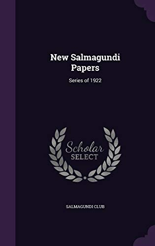 9781359758361: New Salmagundi Papers: Series of 1922