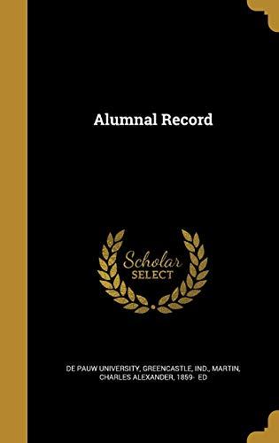Alumnal Record: De Pauw university,