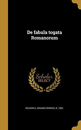 de Fabula Togata Romanorum (Hardback)