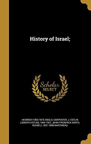 9781362915768: History of Israel;