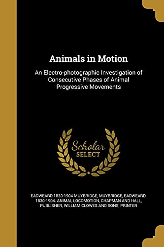 9781363106523: Animals in Motion: An Electro-Photographic Investigation of Consecutive Phases of Animal Progressive Movements