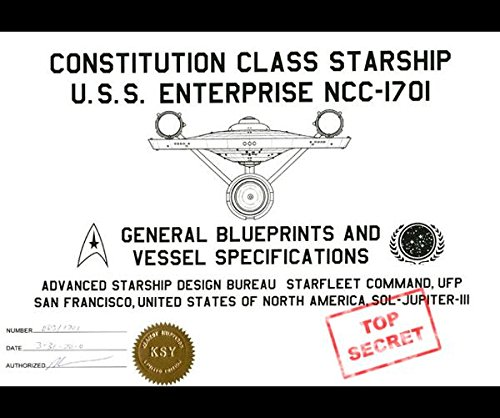 9781364879129: Constitution Class Starship U.S.S. Enterprise NCC-1701