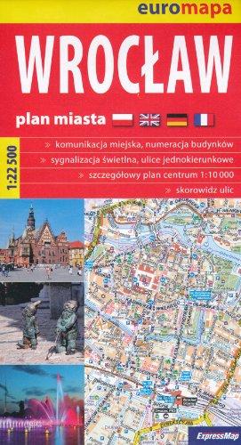 9781370499663: Wroclaw (Breslau, Poland) 1:22,500 Street Map & Environs TQ