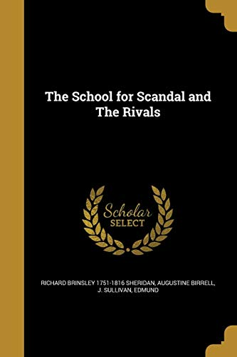 9781371423131: The School for Scandal and the Rivals