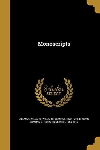 Monoscripts (Paperback)