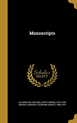 Monoscripts (Hardback)