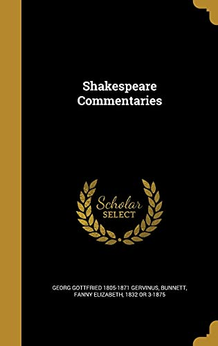 9781372214691: Shakespeare Commentaries