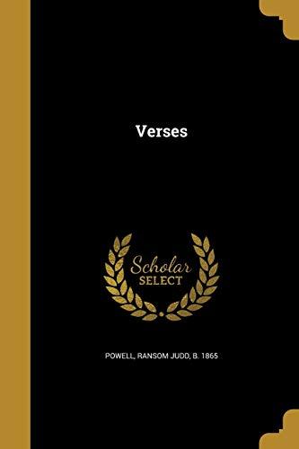 Verses (Paperback or Softback): Powell, Ransom Judd