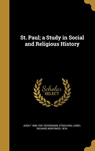 9781372326318: St. Paul; A Study in Social and Religious History