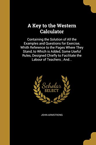 9781372673382: A Key to the Western Calculator