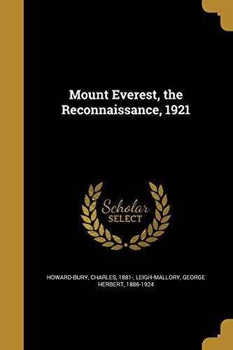 9781372757709: Mount Everest, the Reconnaissance, 1921