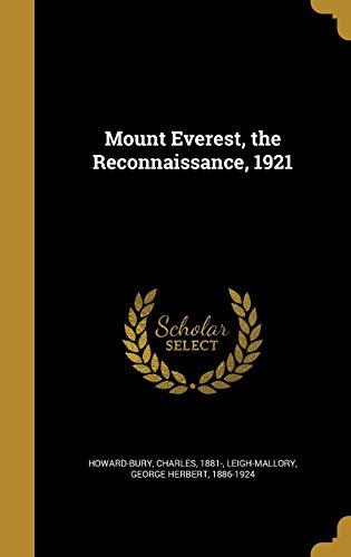 9781372757754: Mount Everest, the Reconnaissance, 1921