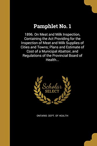 Pamphlet No. 1: 1896. on Meat and
