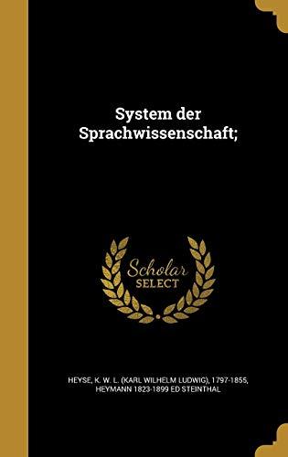 9781374031029: System Der Sprachwissenschaft; (German Edition)