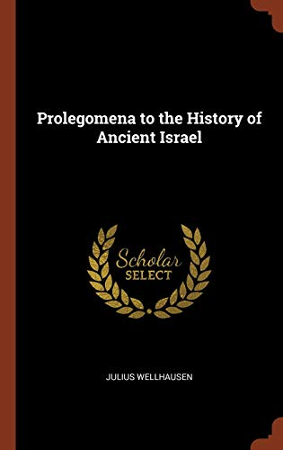 9781375013390: Prolegomena to the History of Ancient Israel