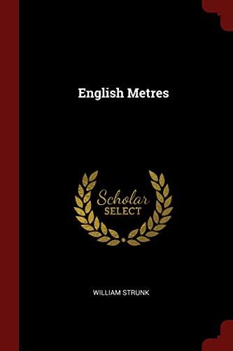 9781375414692: English Metres
