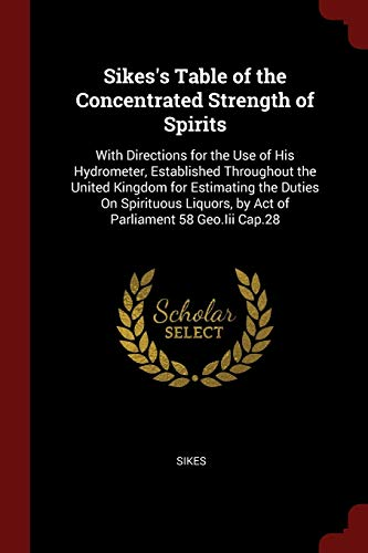 Sikes s Table of the Concentrated Strength: Sikes